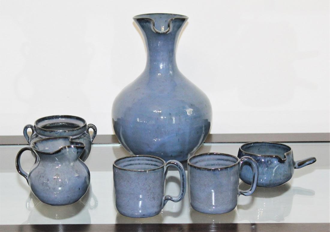 NC Pottery, Waymon Cole, 6 Piece Beverage Set