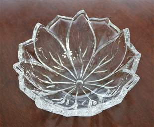 WATERFORD Marquis Cut Crystal Flower Petal Bowl