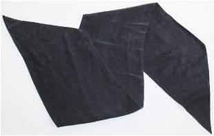 Brooks Brothers Silk Black On Black Brocade Scarf