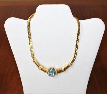 Christian Dior Jewelry Rhinestone Choker Necklace