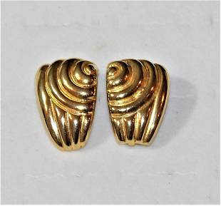Paolo Gucci Gold Plate Clip on Earrings