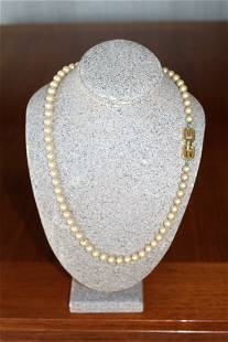 Givenchy Jewelry Givency 1977 Faux Pearl Bead Necklace
