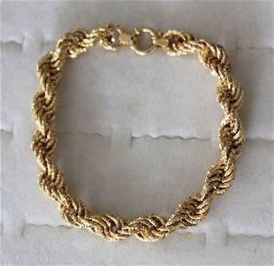 14k Yellow Gold Milros Italian Bracelet 9.8 Grams