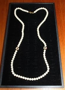 """Richelieu 34"""" Faux Pearl Necklace"""