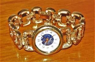 DIANE VON FURSTENBERG Gold Tone Bracelet Watch