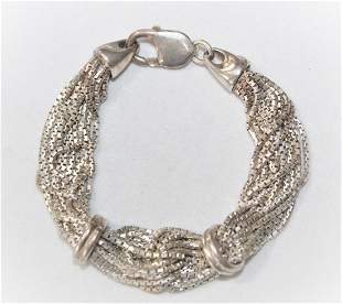 Italian Sterling Silver Multi Chain Bracelet 39.3 Grams