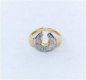 18K Yellow Gold Diamond Mens Ring $3900 Appraisal