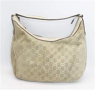 Vintage GUCCI Beige Monogram Shoulder Bag