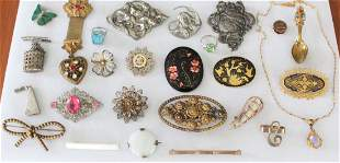 Victorian Gold Filled, 925, Costume Jewelry Lot