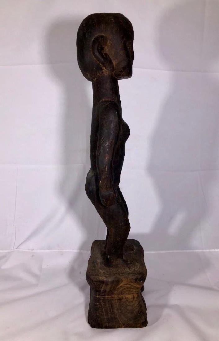 Native Tribal Female Carved Statue - 3