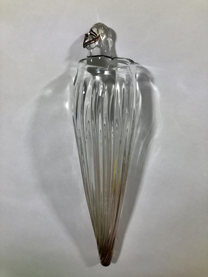 Lot of 4 handblown glass vases - 5