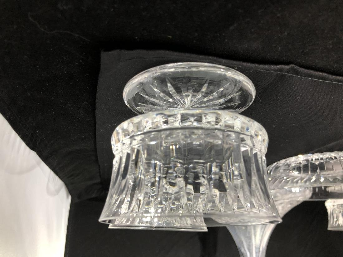 Cut Glass Decanter with Glasses Lot - 3