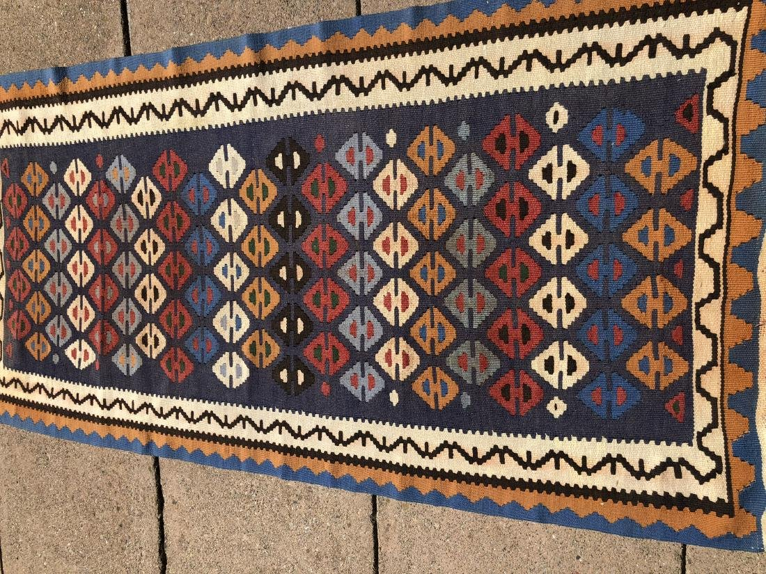 Kilims Rug in Blue, Red and Orange
