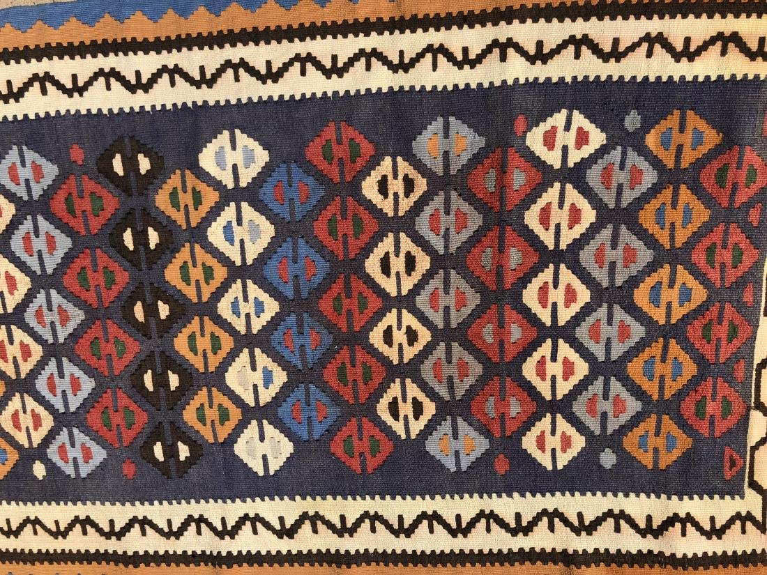 Kilims Rug in Blue, Red and Orange - 3