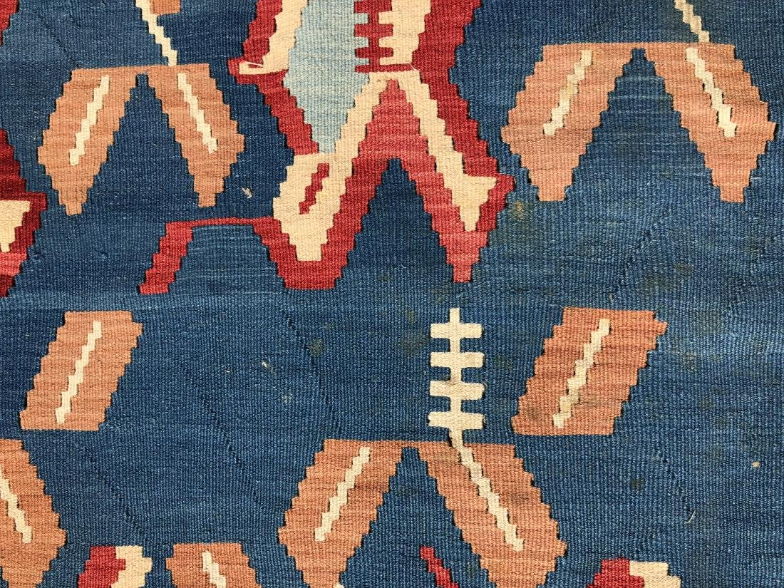 Kilim Rug in Blue, Red, and Orange - 4