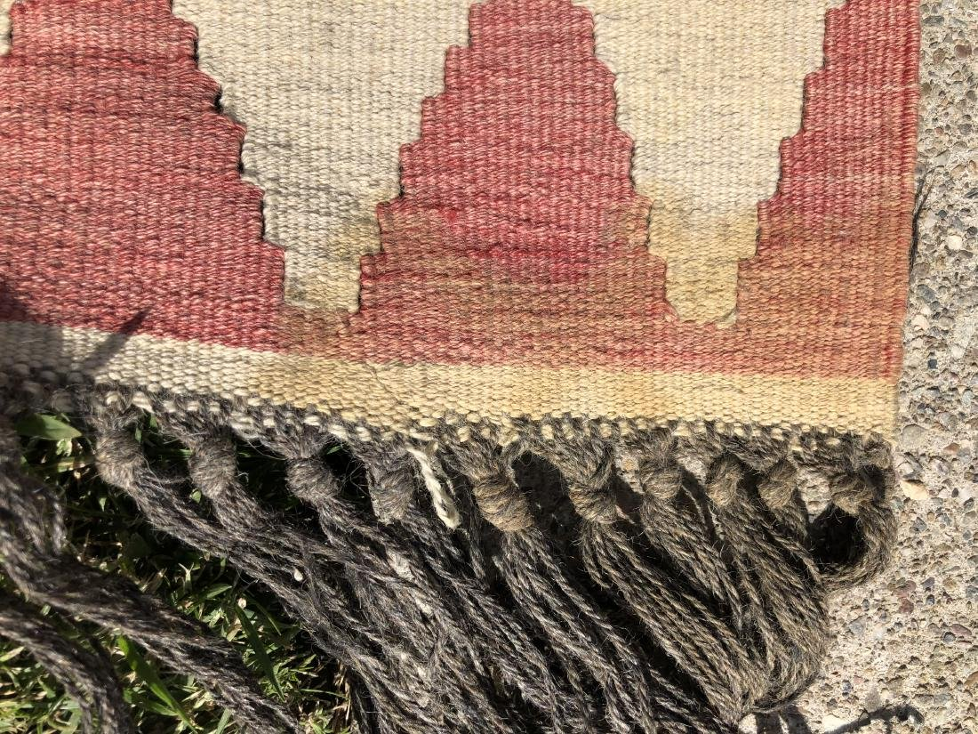 Kilim Rug in Blue, Red, and Orange - 5