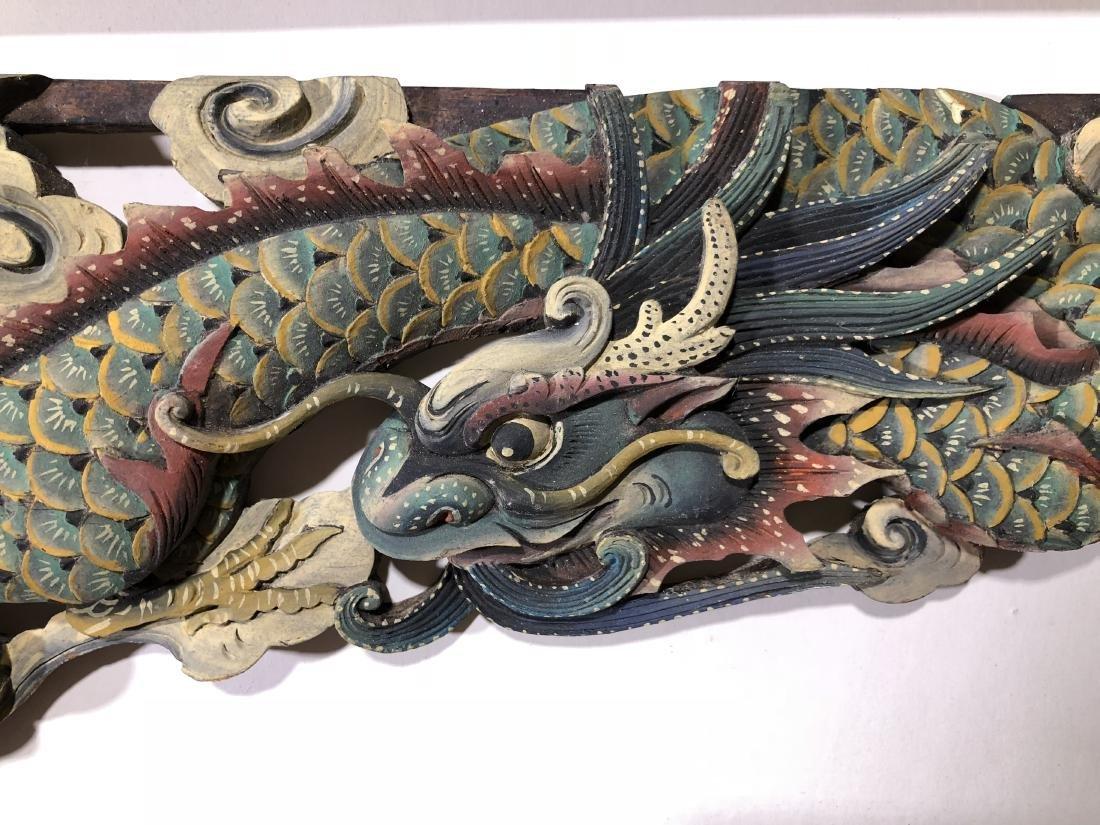 Pair of Antique Chinese Macau Wood Statue Panels -