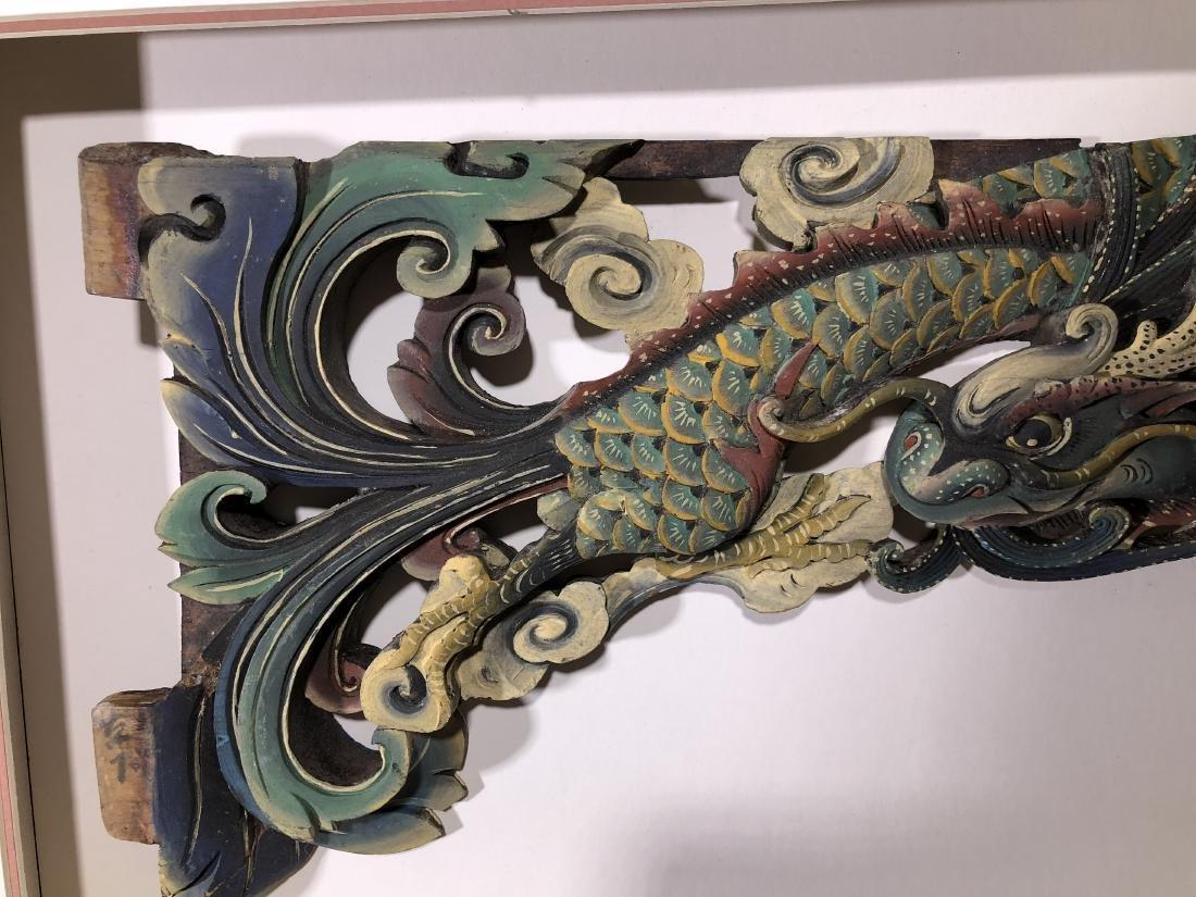 Pair of Antique Chinese Macau Wood Statue Panels - - 4