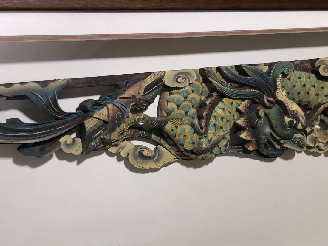 Pair of Antique Chinese Macau Wood Statue Panels - - 5