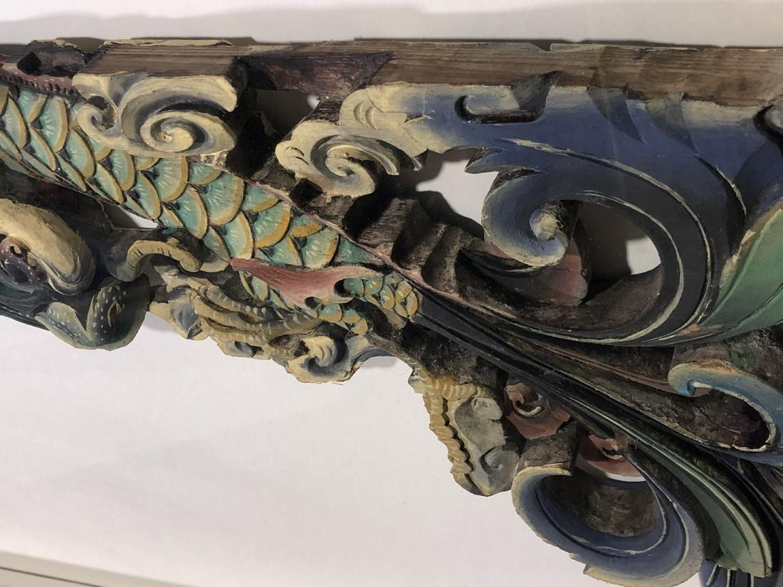 Pair of Antique Chinese Macau Wood Statue Panels - - 7