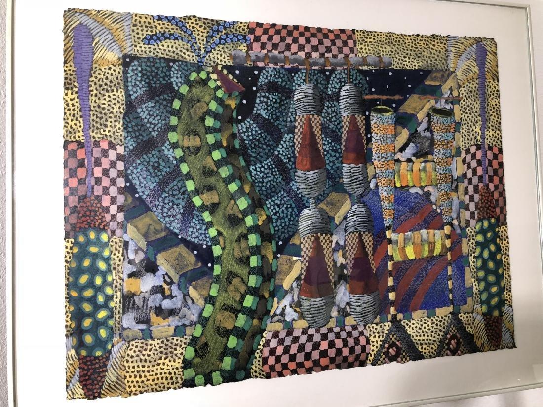 """Jack Portland """"Current Events"""" Original Watercolor"""