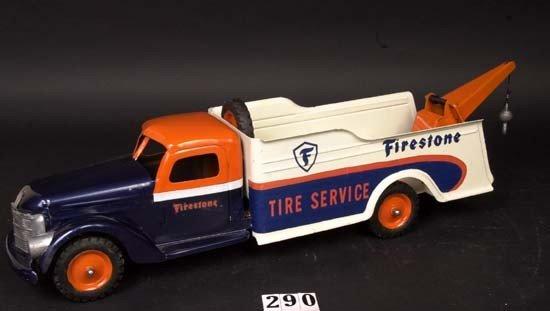 290: Buddy L Firestone Tire Service wrecker truck