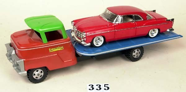 335: Structo tilt bed car carrier w/ '55 Chrysler 300