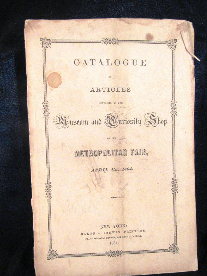 1864 Civil War NY Metroplitan Fair catalog