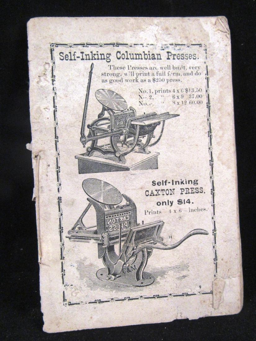 19th.c Challenge printing press illus. catalog