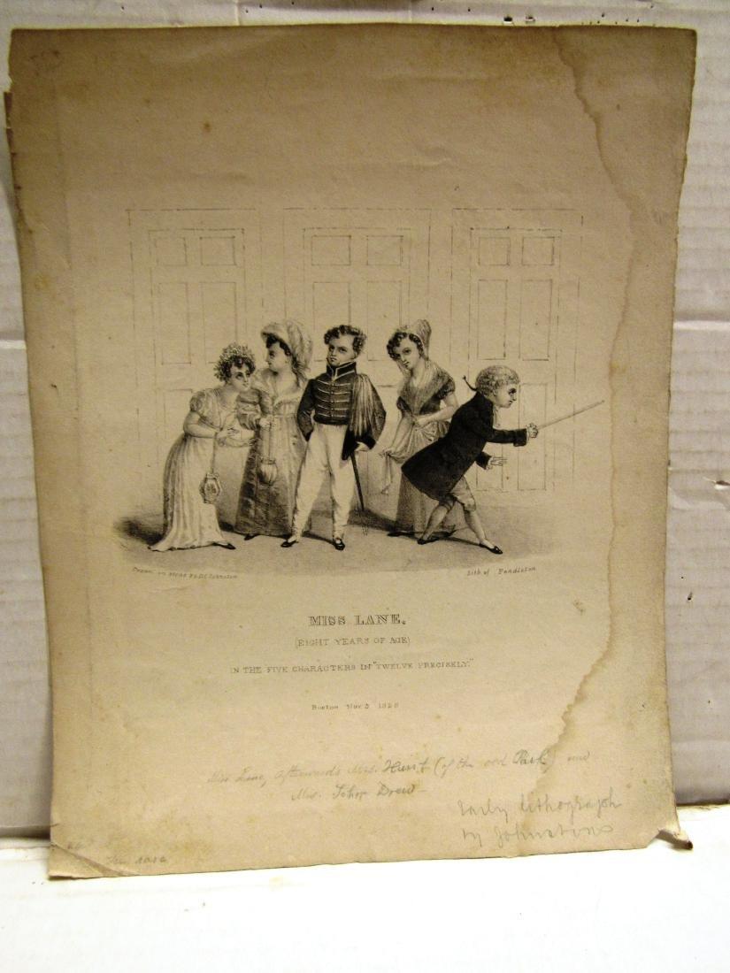 1828 engraving Louisa Lane, American, (1820-1897)