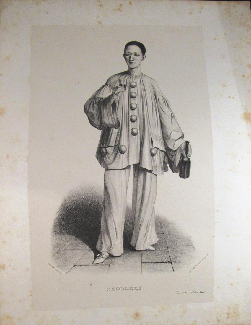 1840-1 engraving Debureau, French actor