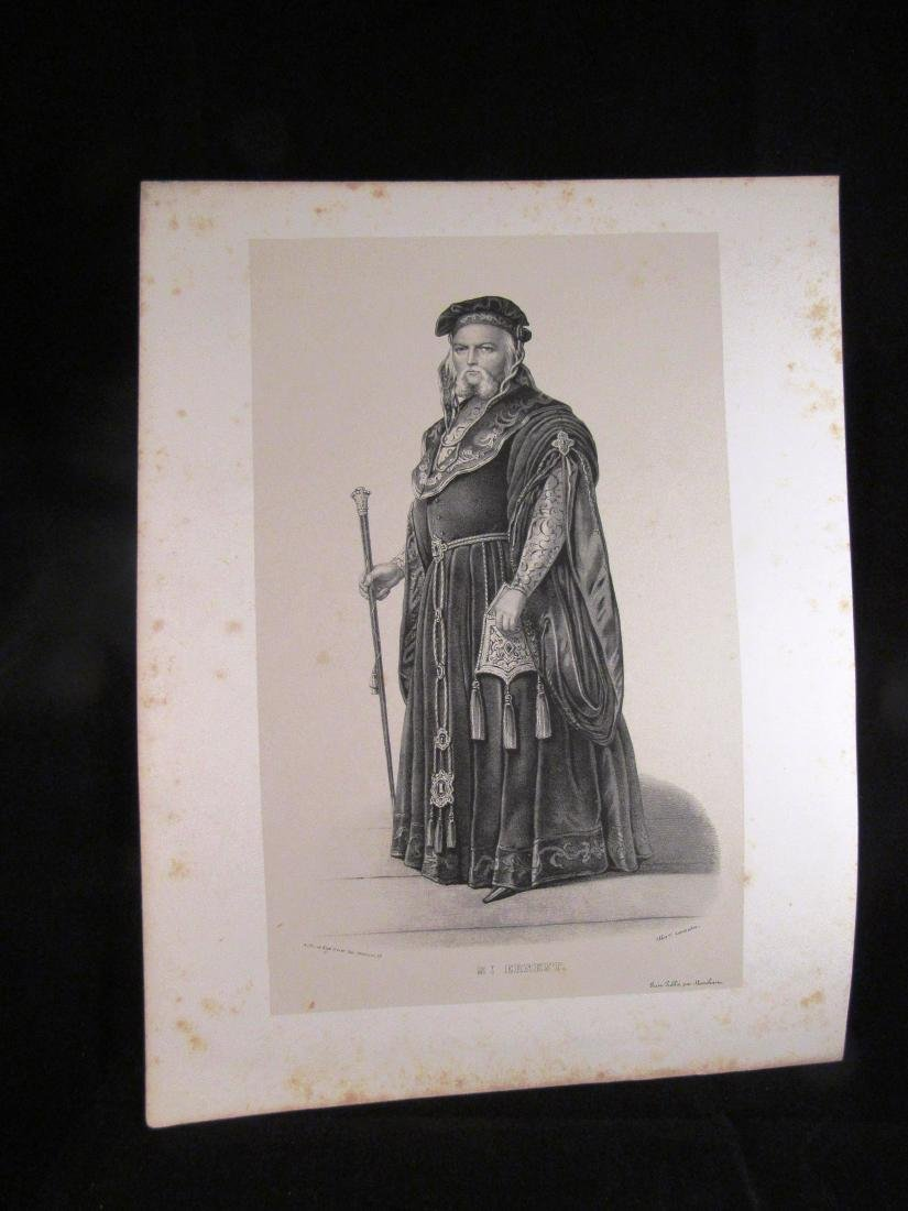1840- 1 engraving St. Ernest, French actor