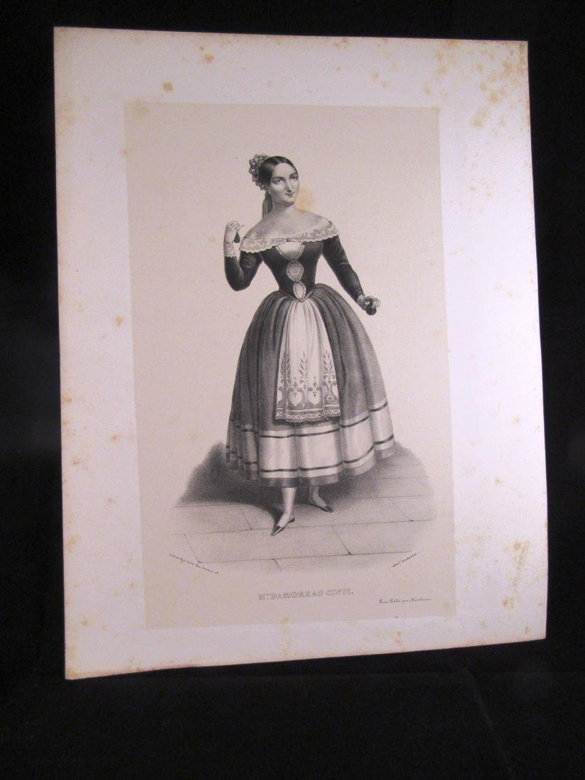 1840-1 engraving Mme Damoreau French actor