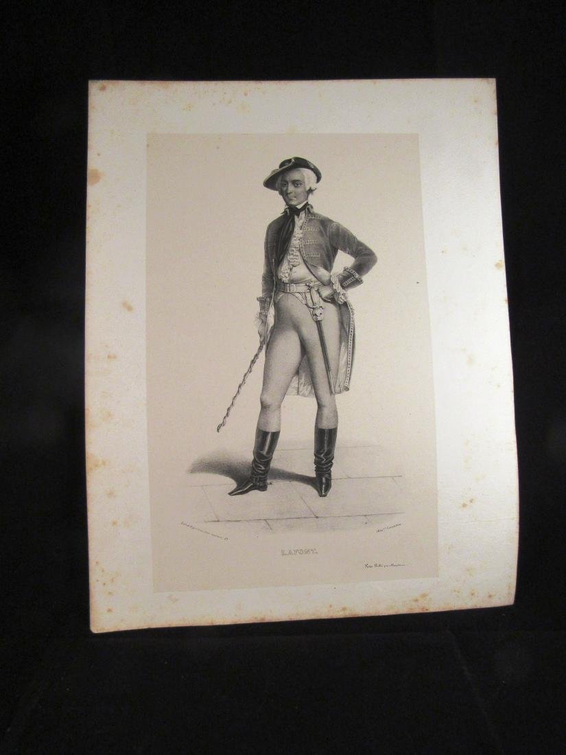 1840-1 engraving Lafont French actor