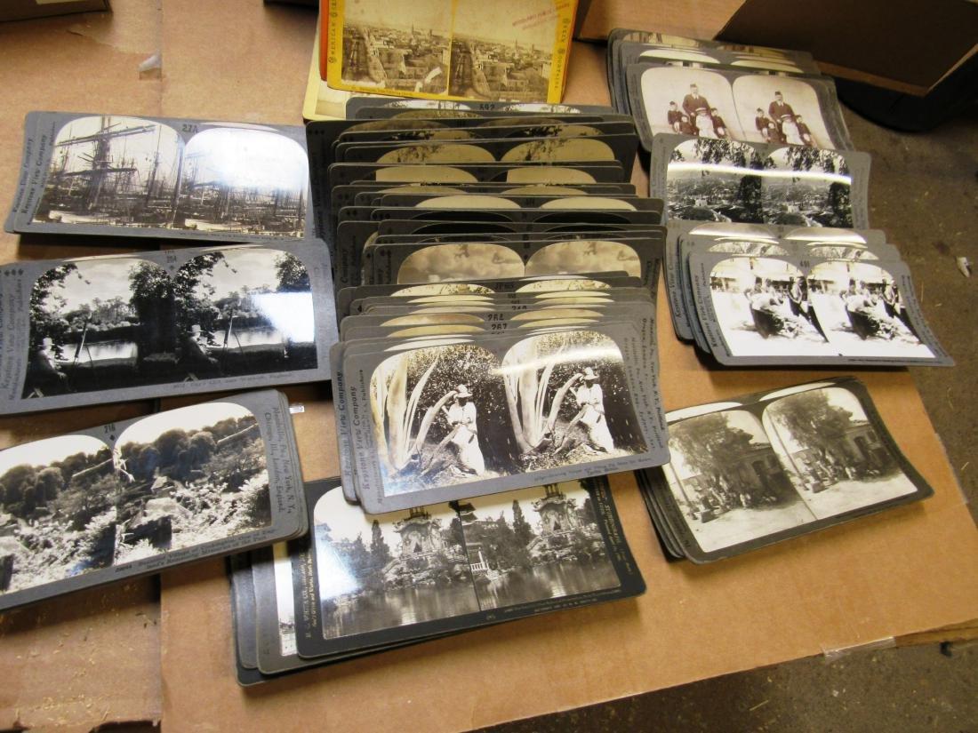 Lot of (90+) stereoviews world 1900-1910