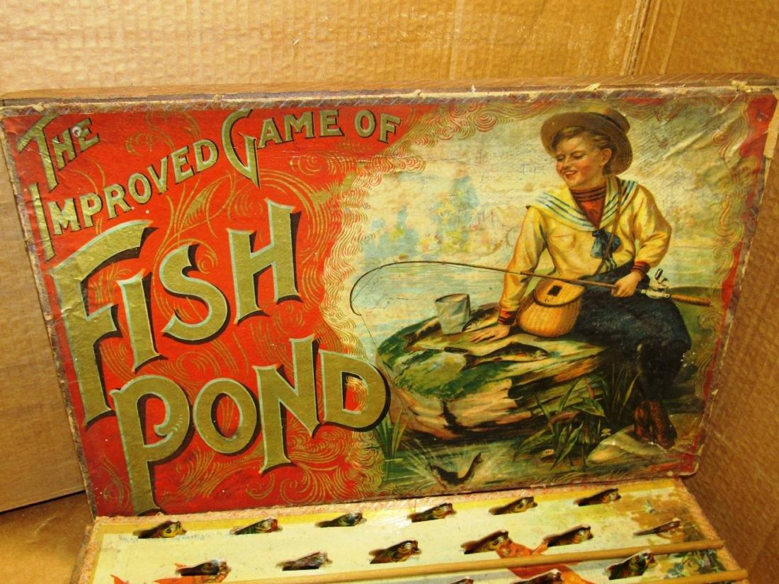 "1898 ""Fish Pond"" Mc Loughlin game in box - 2"