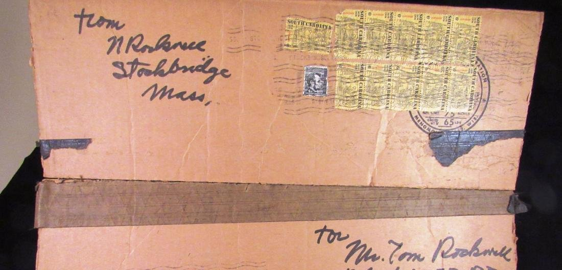 Norman Rockwell  autograph on box top