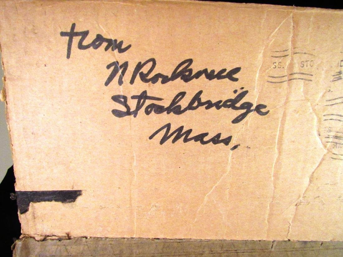 Norman Rockwell  autograph on box top - 2