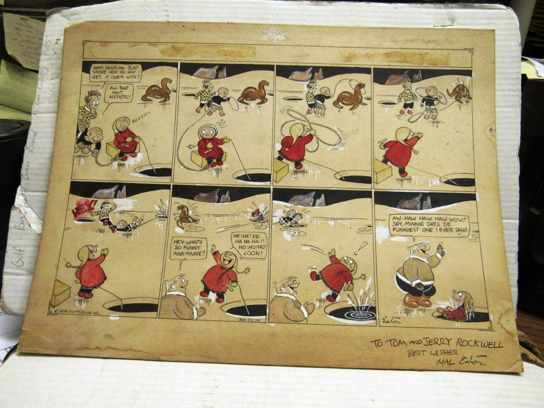 1938 Original Mal Eaton comic strip art