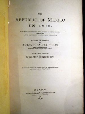 """The Republic of Mexico in 1876"" book - 2"