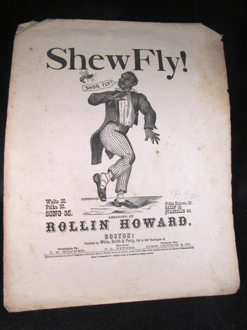 1869 Black Americana sheet music