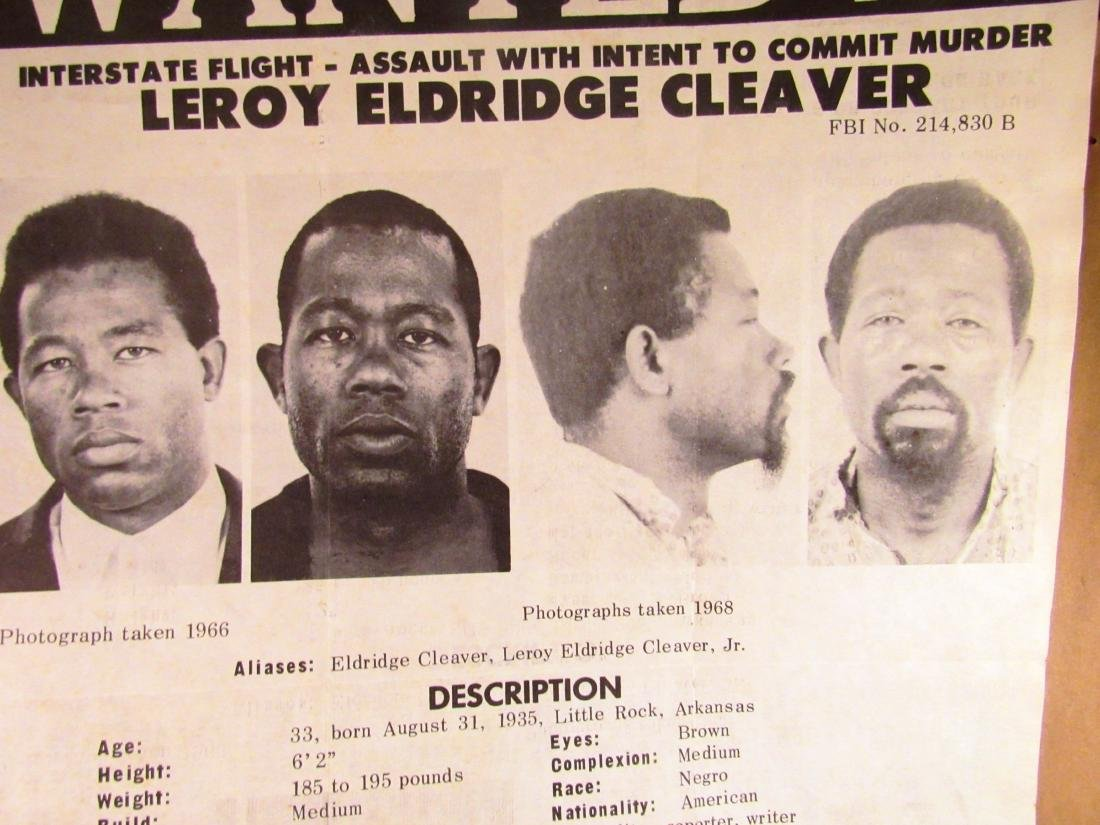 1968 FBI wanted poster Eldridge Cleaver - 2