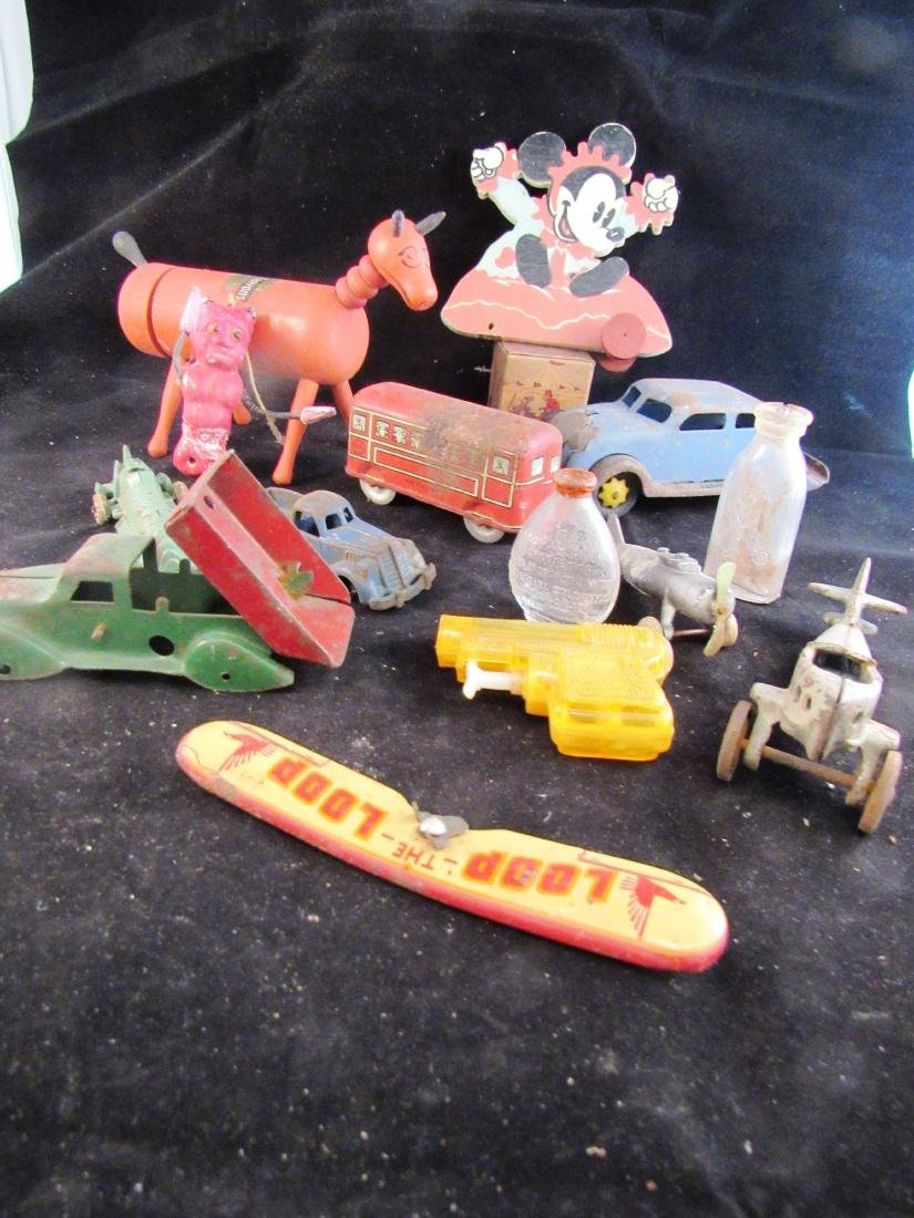 antique toy lot some for parts