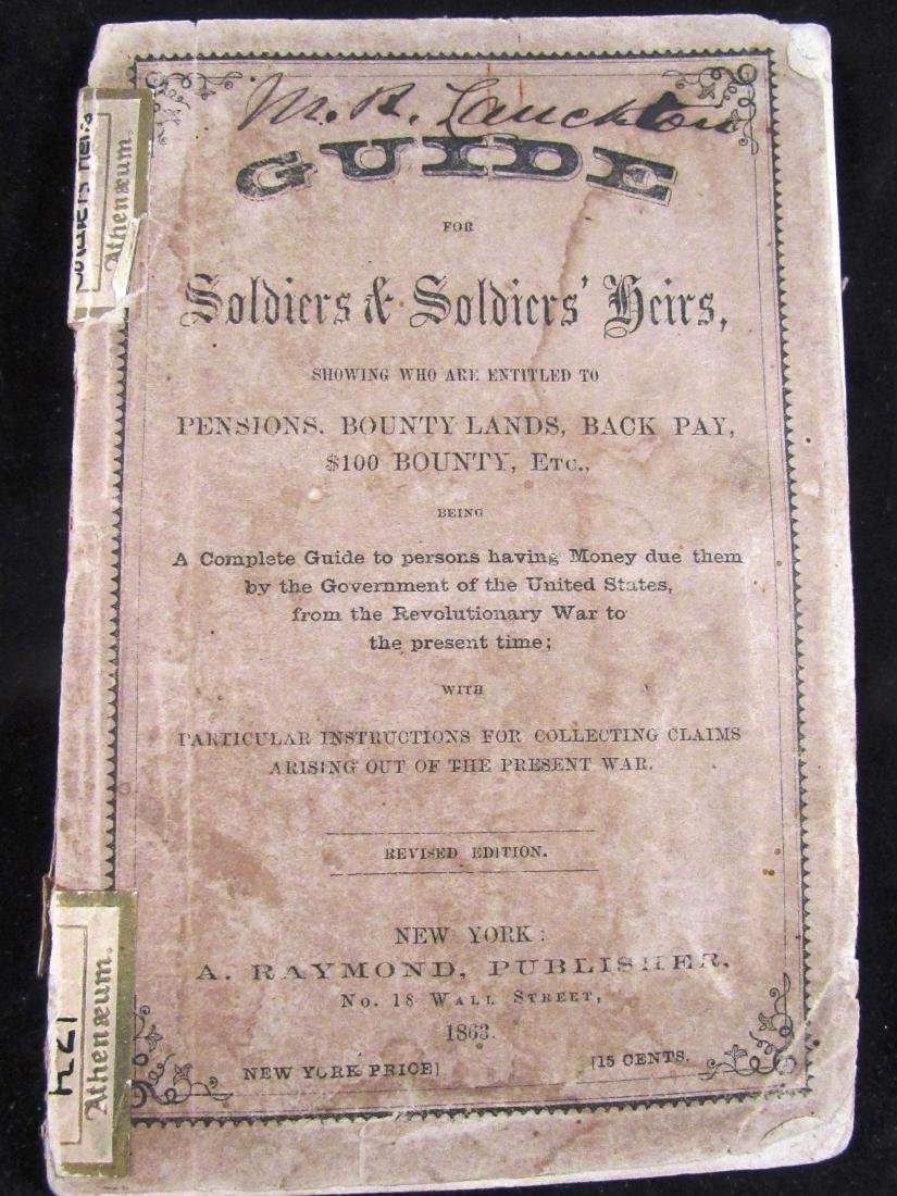 1863 Civil War Soldier's guide