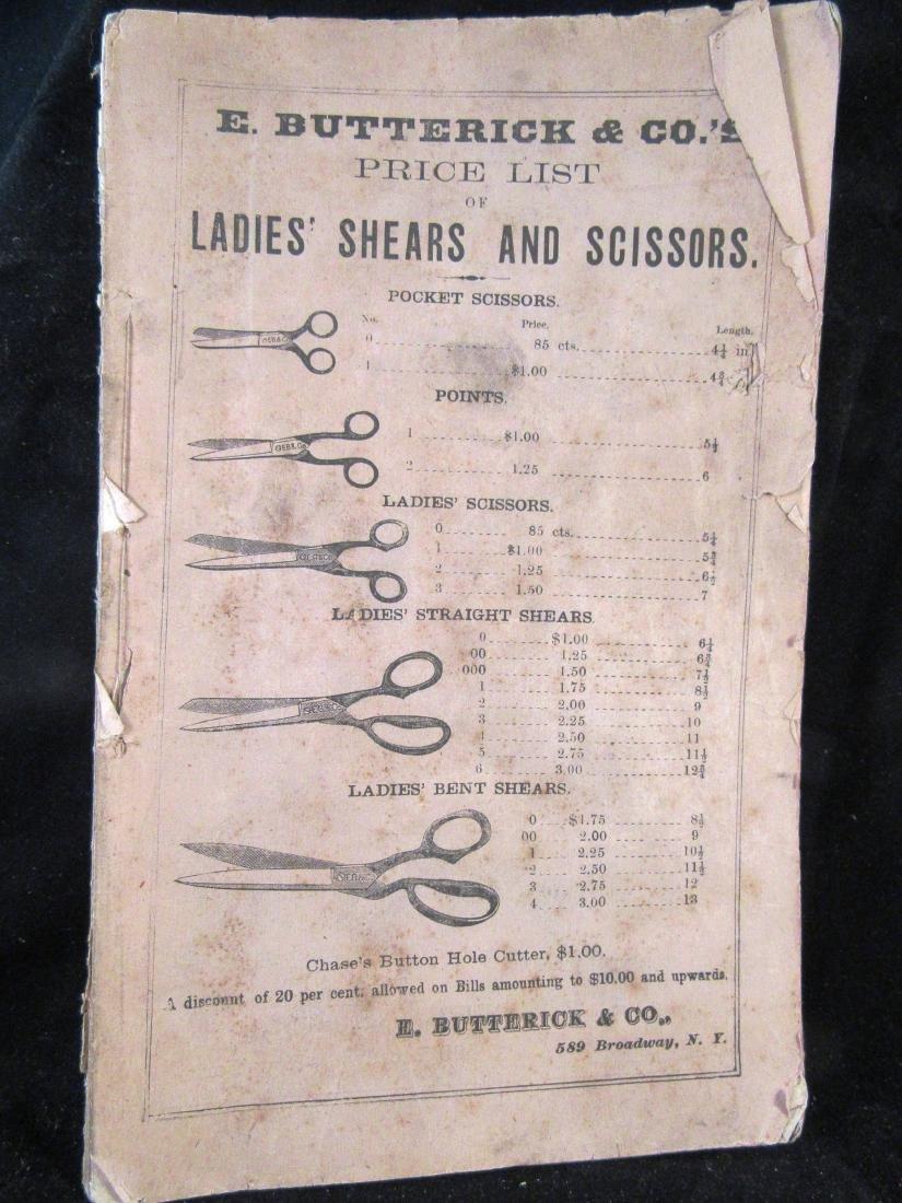 1871  Scissors catalog, NYC fashions