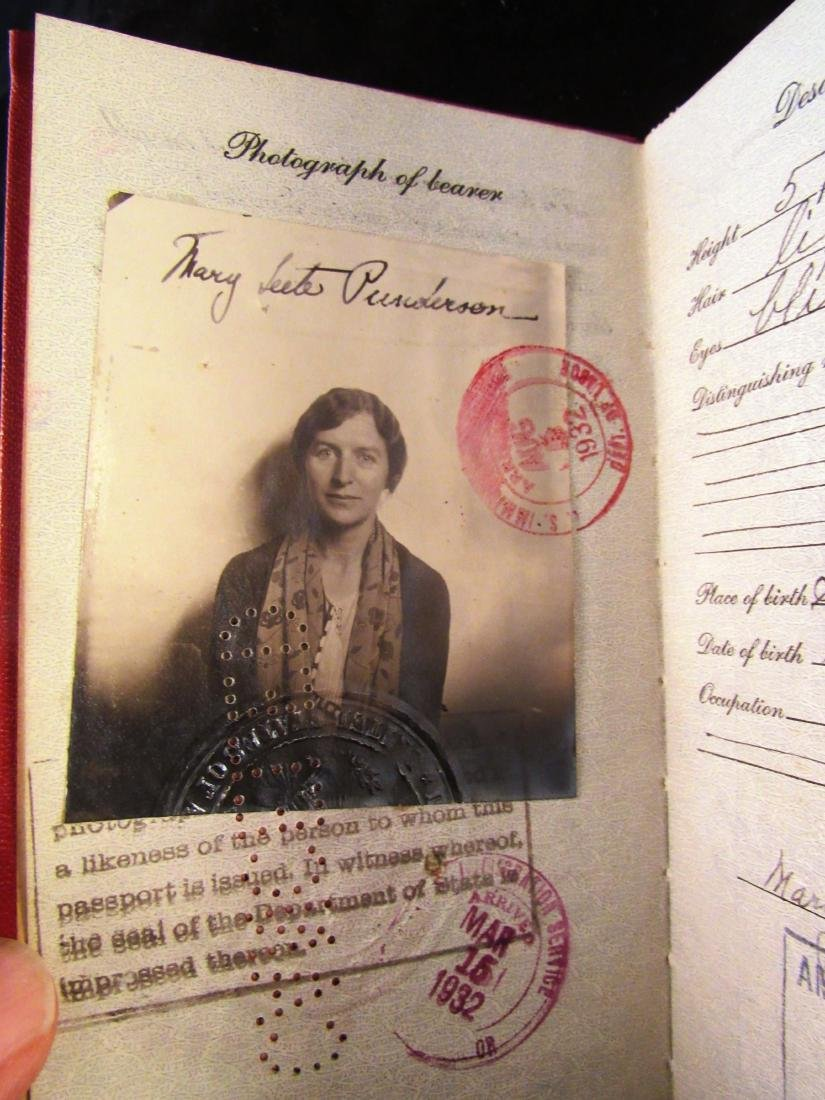 1930's US Passport N.Rockwell 3rd wife - 2