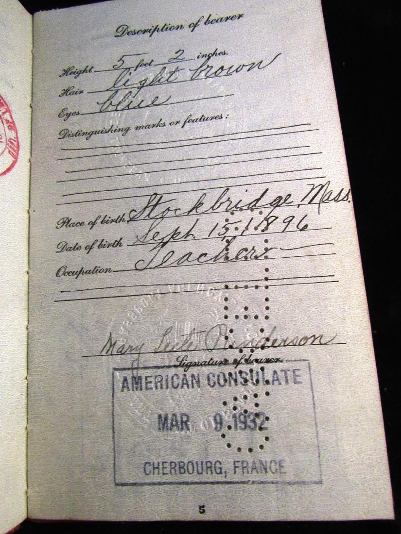 1930's US Passport N.Rockwell 3rd wife - 3