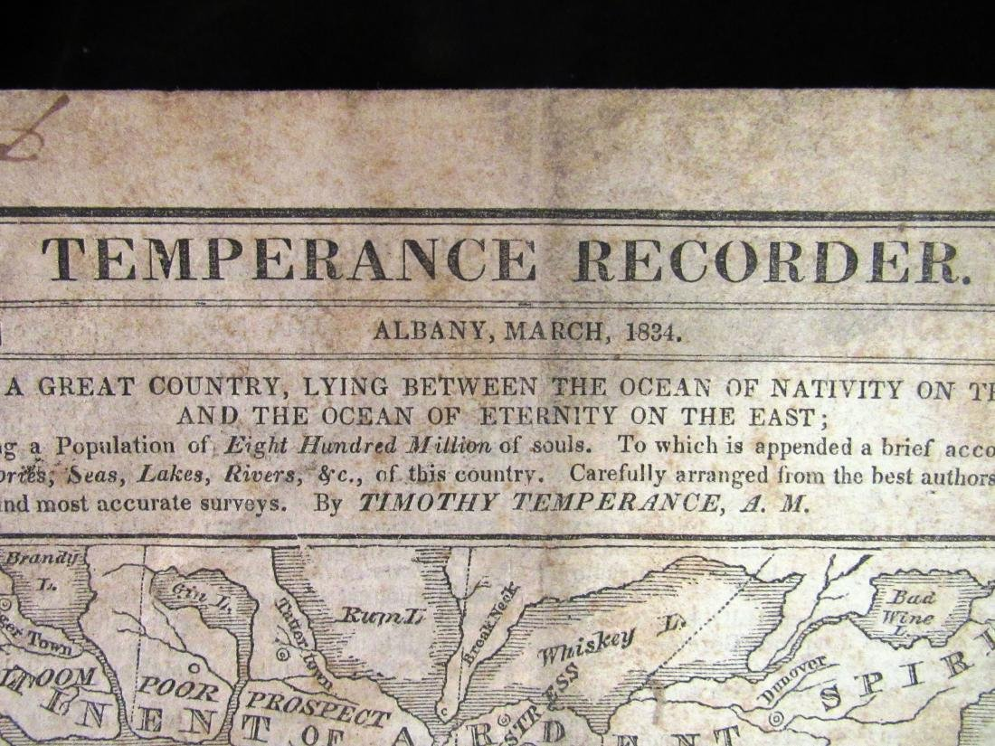 Temperence Recorder,1834, Albany NY - 2