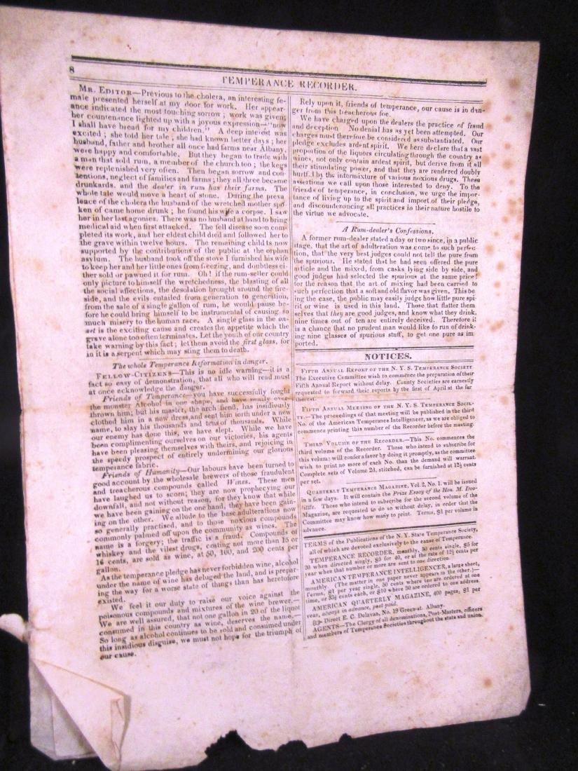 Temperence Recorder,1834, Albany NY - 4