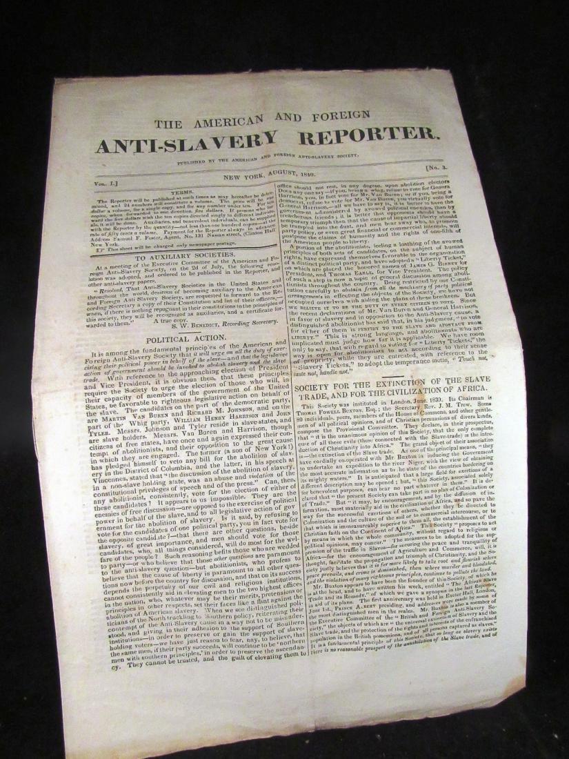 Abolitionist newspaper Aug 1840